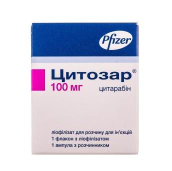 Цитозар (CYTOSAR) цитарабин (cytarabine) 100 мг, 500 мг, 1000 мг (Европа)