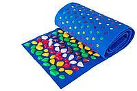 Массажный коврик с камнями, 100 * 40 см, синий