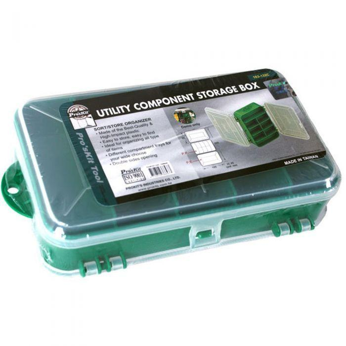103-132C Pro'sKit Кассетница для деталей двухсторонняя пластиковая (165х95х45мм)