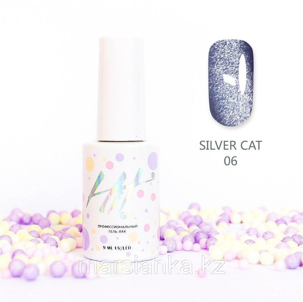 Гель-лак HIT gel Silver Cat №06, 9мл