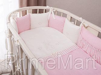 Комплект в кроватку Perina Неженка Oval 7 предметов НО7.3-125х75 Розовый