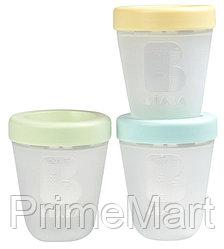 Набор силиконовых контейнеров Beaba 3шт Portions Silicone Spring