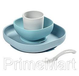 Набор посуды Beaba Coffret Repas Silic 4pc Jungle