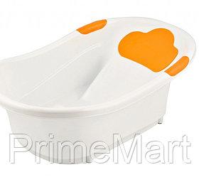 Ванночка Roxy Kids с анатомической горкой и сливом Оранжевая