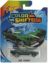 Машинки Hot Wheels Color Shifters меняющая цвет зелено-черная