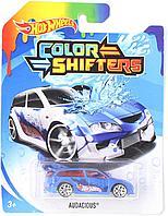 "Машинки Hot Wheels Color Shifters ""Измени цвет"" бело-голубая"