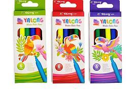 """Фломастеры  6 цв. """"Yalong"""" YL875146-6"""