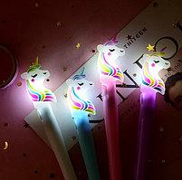 Ручка гелевая со светодиодами Единорог