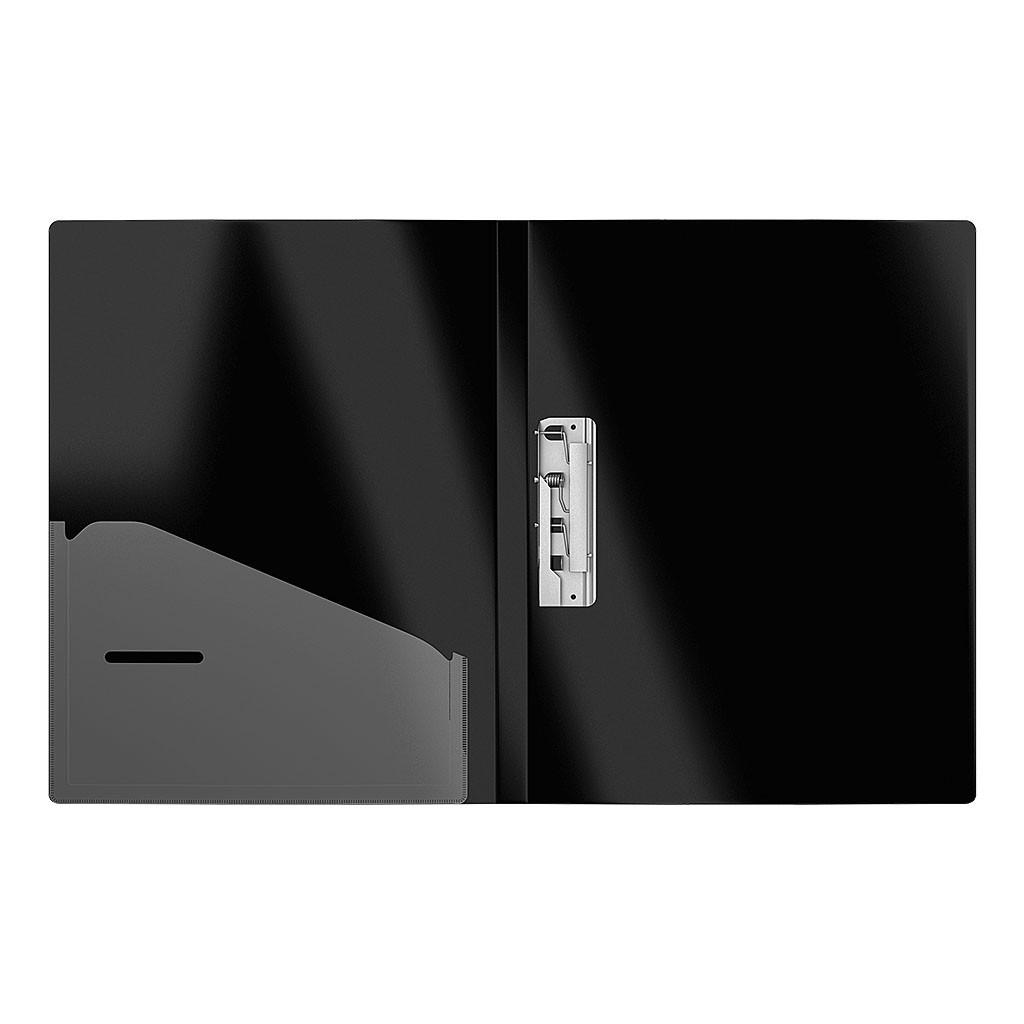 Папка с боковым зажимом и карманом Megapolis, A4, черный, ERICH KRAUSE
