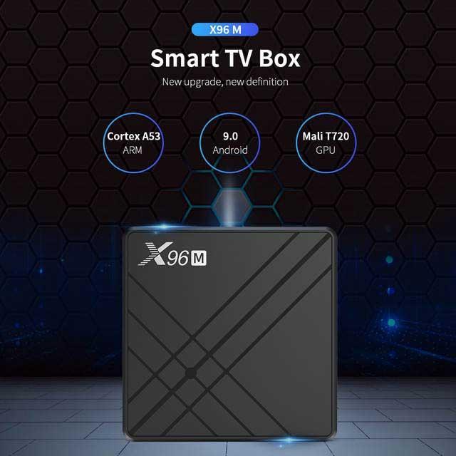 Смарт приставка X96M 4/64, Allwinner H603, Android 9, Смарт ТВ Приставка, Android TV Box