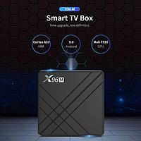Смарт приставка X96M 4/64, Allwinner H603, Android 9, Смарт ТВ Приставка, Android TV Box, фото 1