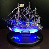 Постамент с светодиодной подсветкой для собранных моделей 3D конструкторов, фото 2