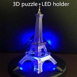 Постамент с светодиодной подсветкой для собранных моделей 3D конструкторов, фото 4