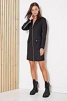 Женское осеннее черное платье Fantazia Mod 3804 48р.