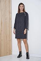 Женское осеннее трикотажное синее платье Fantazia Mod 3821 54р.