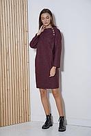 Женское осеннее трикотажное красное платье Fantazia Mod 3583/1 54р.