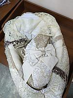 Матрас кокон для новорожденных с кружевами