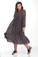 Женское осеннее фиолетовое платье Anna Majewska 1403 фиолетовый 52р.
