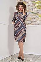Женское осеннее трикотажное большого размера платье Avanti Erika 1102-2 56р.