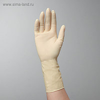 Перчатки латексные неопудренные Extra, размер S, смотровые, нестерильные, 50 шт/уп, цена за 1 шт, цвет белый