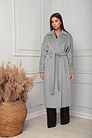 Женское осеннее драповое серое пальто SandyNa 13814 серый 50р.