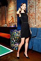 Женское осеннее черное нарядное платье Colors of PAPAYA 1332 46р.