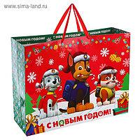 Пакет подарочный ламинированный «С Новым годом!», PAW PATROL, 61 х 46 х 20 см
