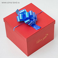 Бант-шар № 3 перламутр, голубой