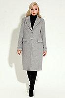 Женское осеннее драповое серое пальто Prio 6970z серый 54р.