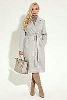 Женское осеннее драповое серое пальто Prio 2870z серый 54р.