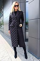 Женское осеннее драповое черное пальто Azzara 3077 46р.
