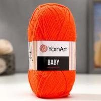 Пряжа 'Baby' 100 акрил 150м/50гр (8279 оранжевый) (комплект из 5 шт.)