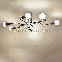 Modern потолочная люстра черная на 6 ламп, фото 1