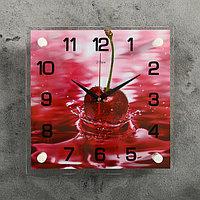 "Часы настенные, серия: Кухня, ""Вишня"", 25х25 см, микс"