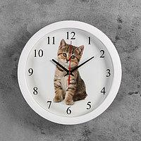 "Часы настенные круглые ""Котенок"", 28х28 см"