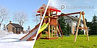 """Детская площадка Савушка """"4 сезона"""" 3 с зимней и обычной горкой, с канатом, качелями, фото 1"""