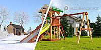 """Детская площадка Савушка """"4 сезона"""" 4 игровая башня с горками, лестницей, качелями, песочницей, фото 1"""
