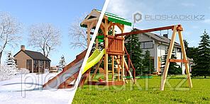 """Детская площадка Савушка """"4 сезона"""" 4 игровая башня с горками, лестницей, качелями, песочницей"""