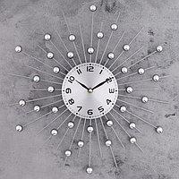 """Часы настенные, серия: Ажур, """"Зеркальные сферы"""" d=40см"""