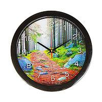 """Часы настенные, серия: Природа, """"Лесная тропа"""", 28х28 см , микс"""