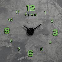 Часы-наклейка светящиеся, стрелки 22,5 см, 16.5 см, 1АА, плавный ход