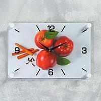 """Часы настенные, серия Кухня, """"Яблоки с корицей"""", плавный ход, 33 х23 см"""
