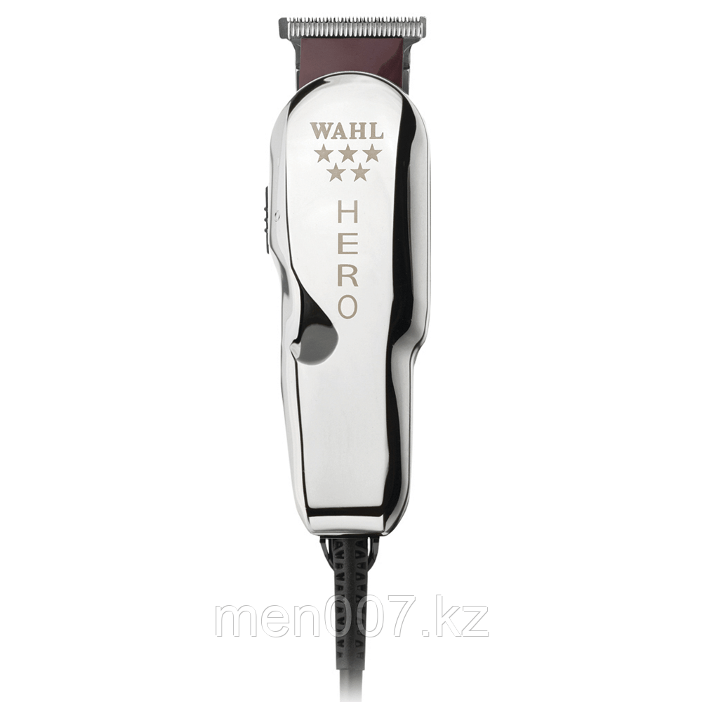 """Машинка """"Wahl - Hero Five Star"""" - окантовочная с Т-образным ножом 32мм, высота среза 0,4мм, 3 насадки, сеть"""