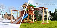 """Детская площадка Савушка """"4 сезона"""" 6, игровая башня 2 качели, столик с лавочками, лестница, горки, фото 1"""