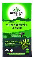 Tulsi green tea classic (Классический зелёный чай с тулси) - снимает стресс и освежает