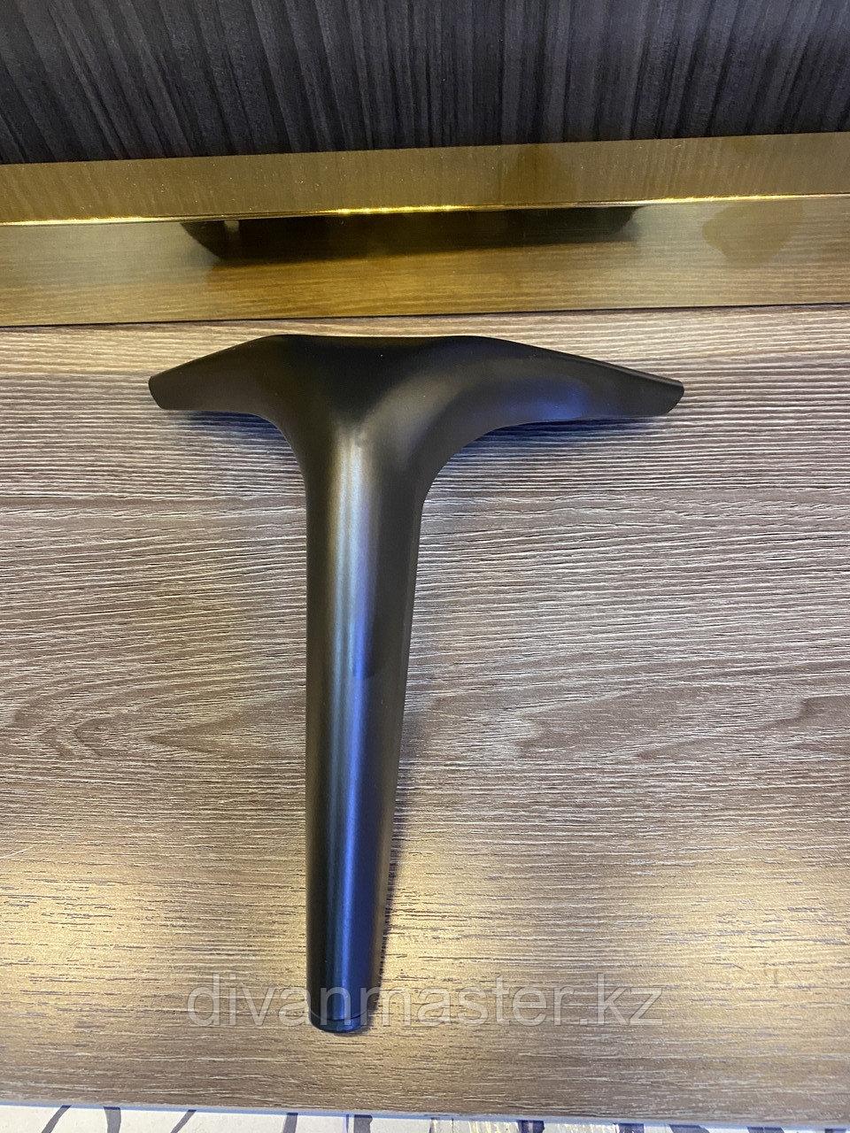 Ножка стальная, для диванов и кресел, черная 18 см
