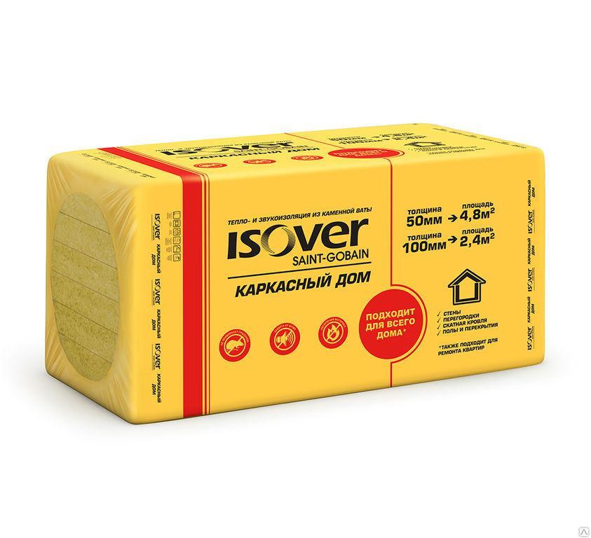 Минплиты ISOVER Каркасный дом (50*600*1000) 5см Плотность 30 (4,8м2)