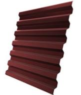 Профлист бордовый Н-20 шир.-1.15м, длин-6 м