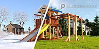 """Детская площадка Савушка """"4 сезона"""" 7 с игровой башней, шведской стенкой, качелями, сеткой для лазанья,, фото 1"""