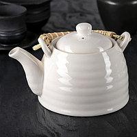 """Чайник заварочный 600 мл """"Белые облака"""", с металлическим ситом"""